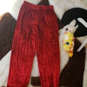 Pants - Red KLG&co Velvet wide leg pants
